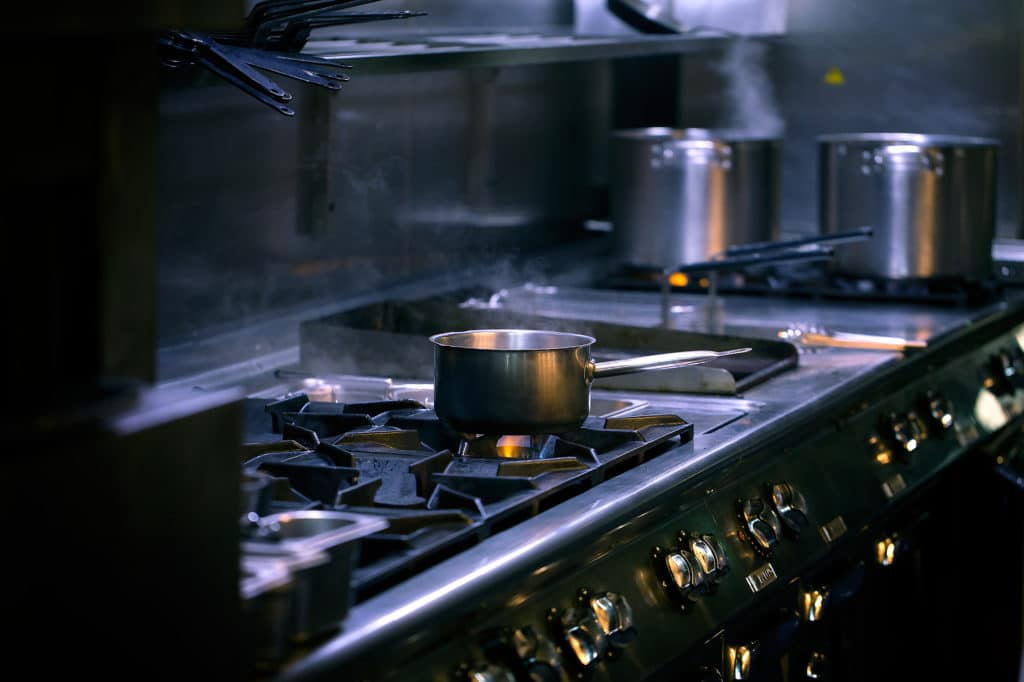 Head Chef Jobs Brighton, picture of pan on stove