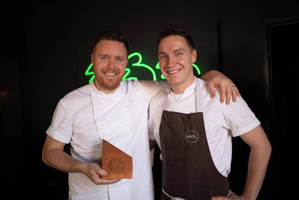 Brighton Restaurant Awards Winners 2019 - Steven Edwards and George Boarer from Etch
