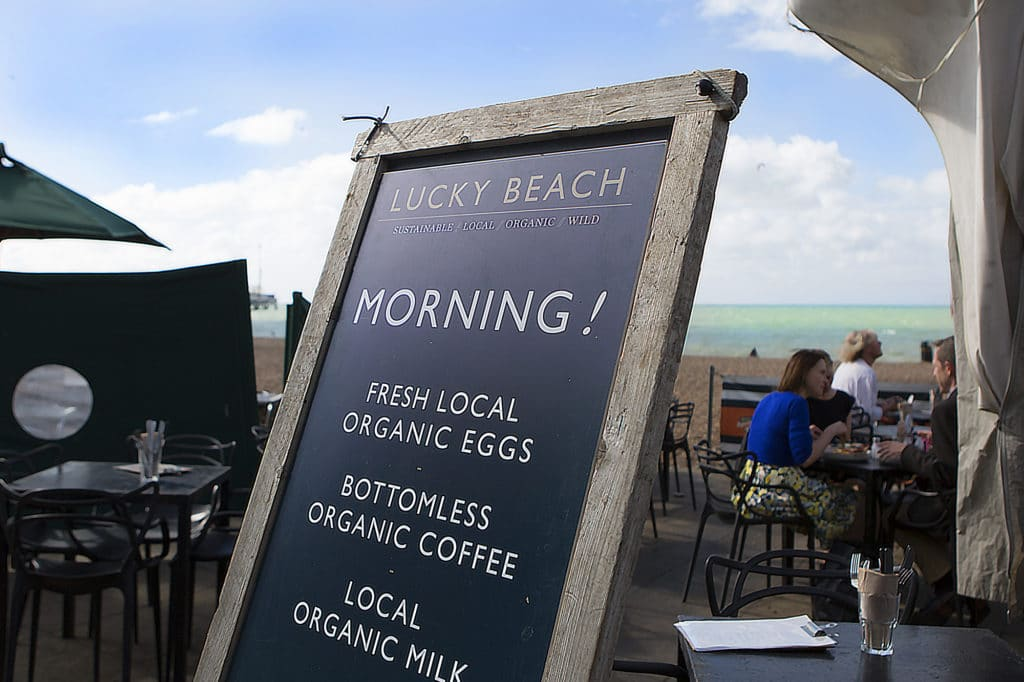 Lucky Beach, seafront cafe, Brighton jobs