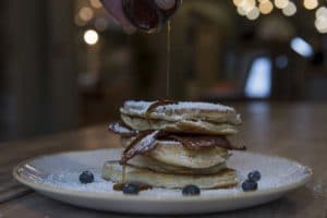 Drizzling pancake. Jobs in Brighton. Pancakes at Moksha Caffe. Kitchen Porter Job