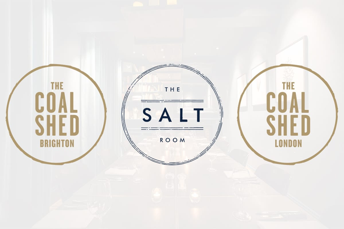 Logos for the Coal Shed Brighton and London and The Salt Room