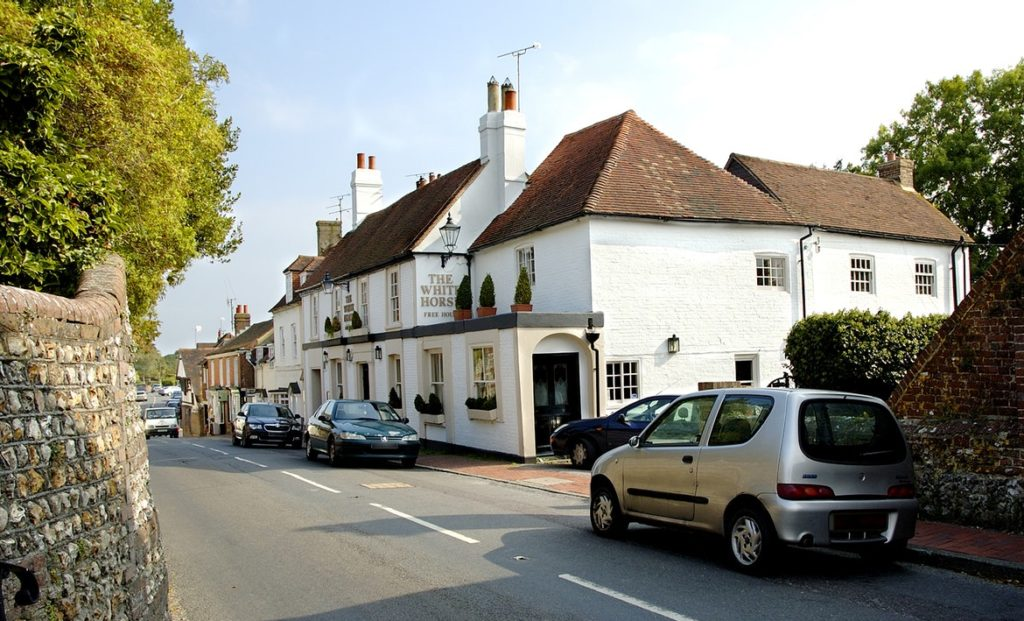 Exterior of White Horse - Apprentice Chef in Sussex, White Horse in Ditchling