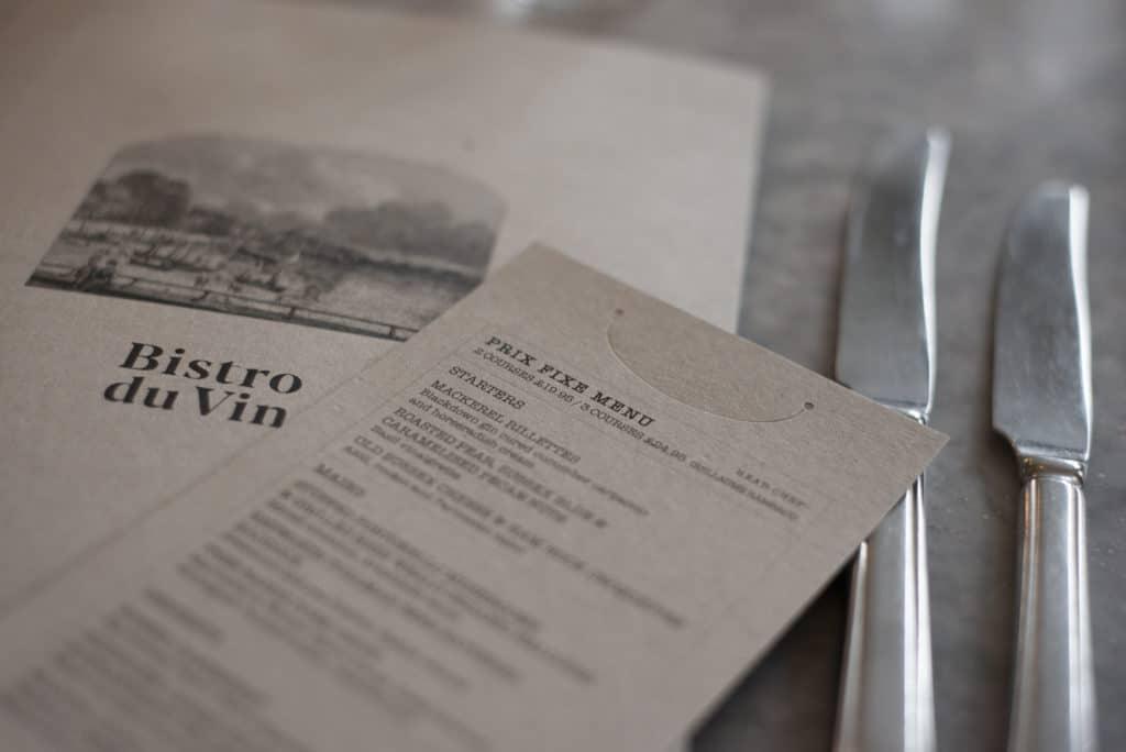 Menu at Hotel Du Vin Brighton, Restaurant Manager