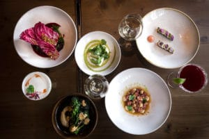 a selection of dishes at Plateau