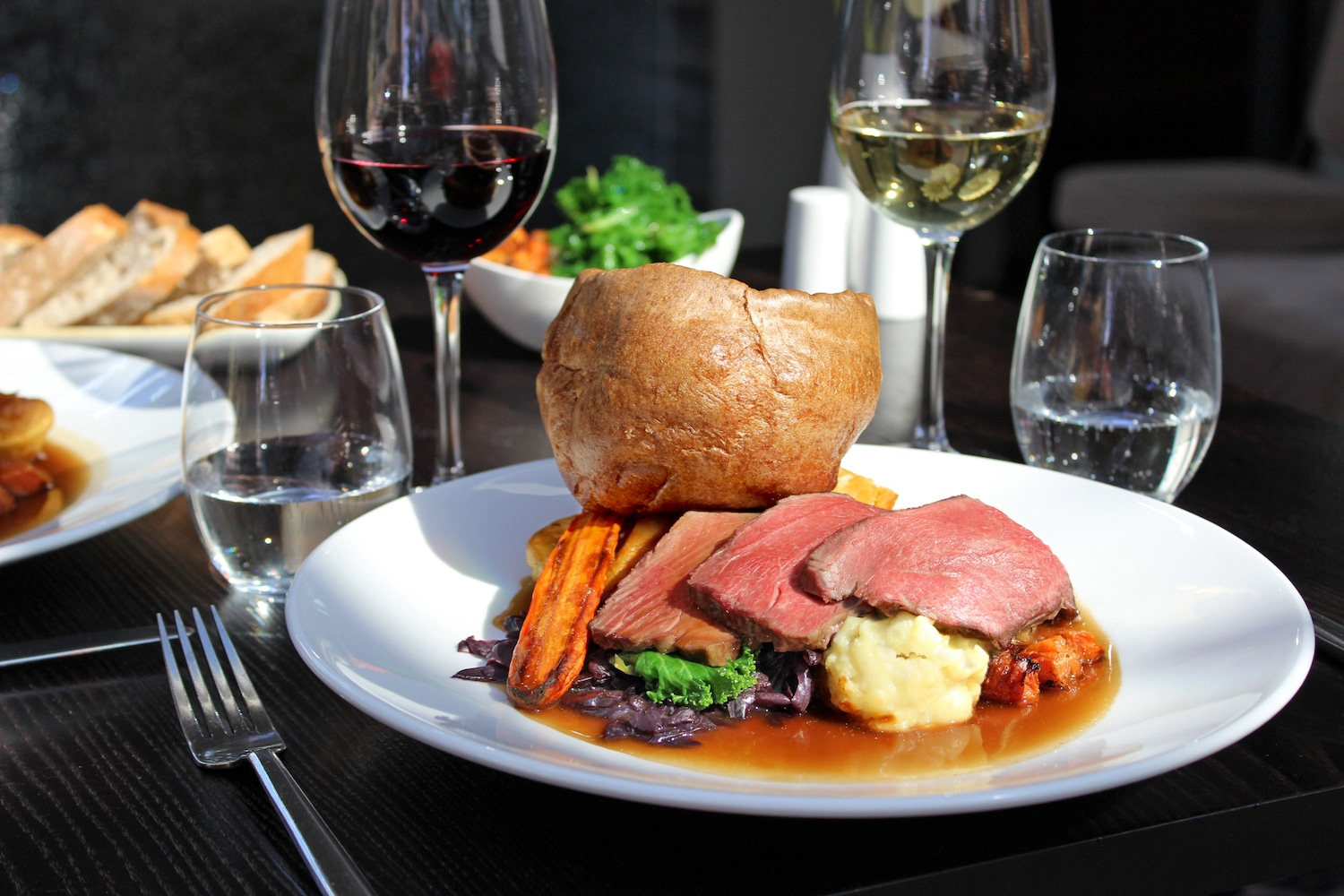 Wickwoods and Glass House restaurant, roast beef