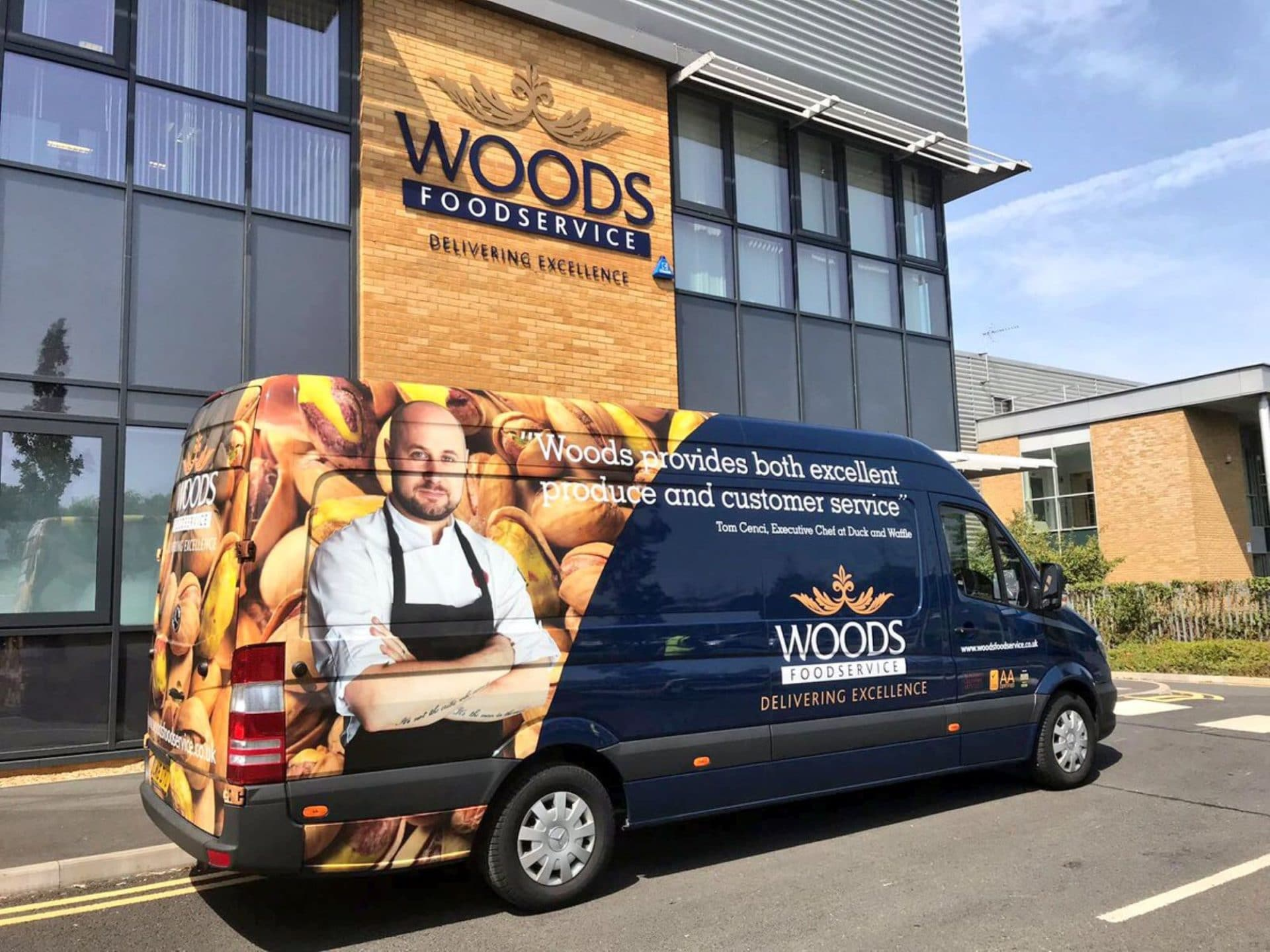 Woods Food Service van