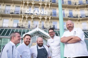 The 2019 line up, Brighton Chefs Table outside The Grand Brighton
