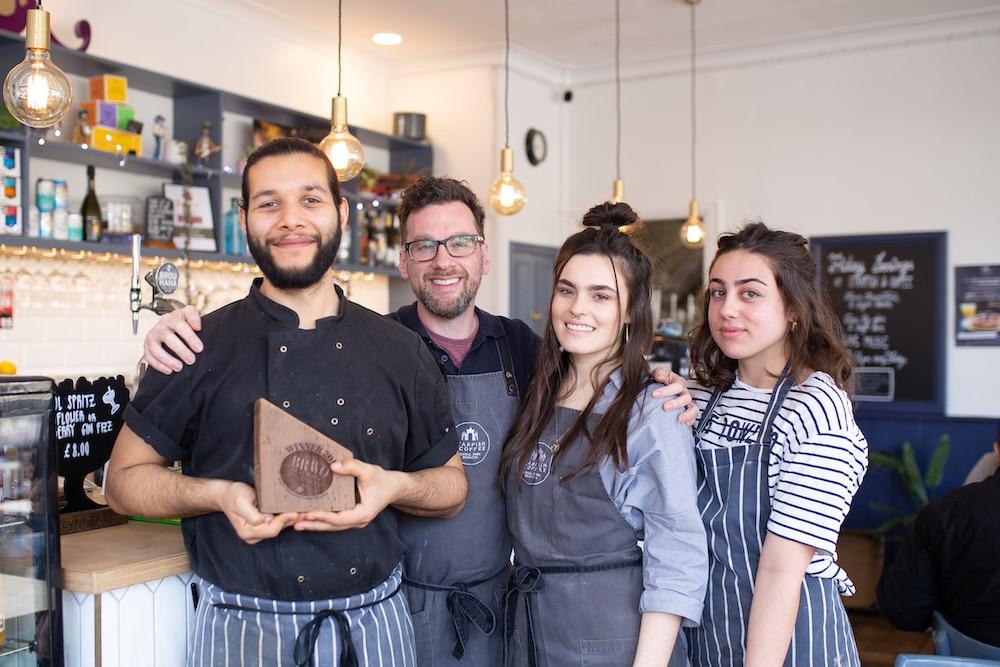 Tony Marks, Starfish and Coffee Brighton, winner of best brunch