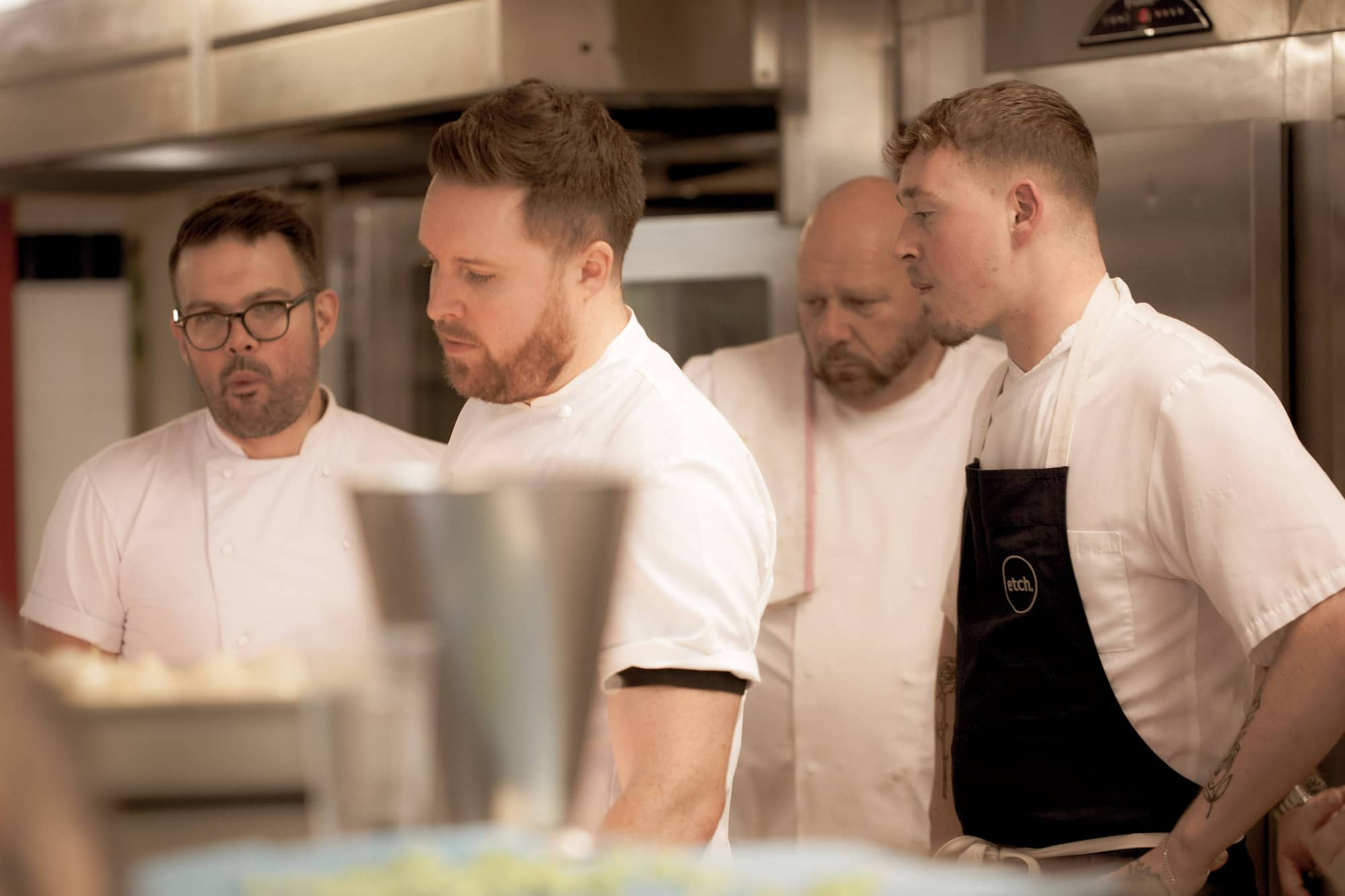Steven Edwards at Etch, getting his dish ready at Brighton Chefs Table