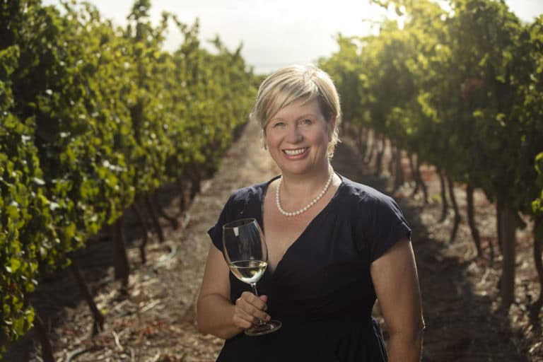Penny Streeter OBE, owner of the Benguela Cove wine