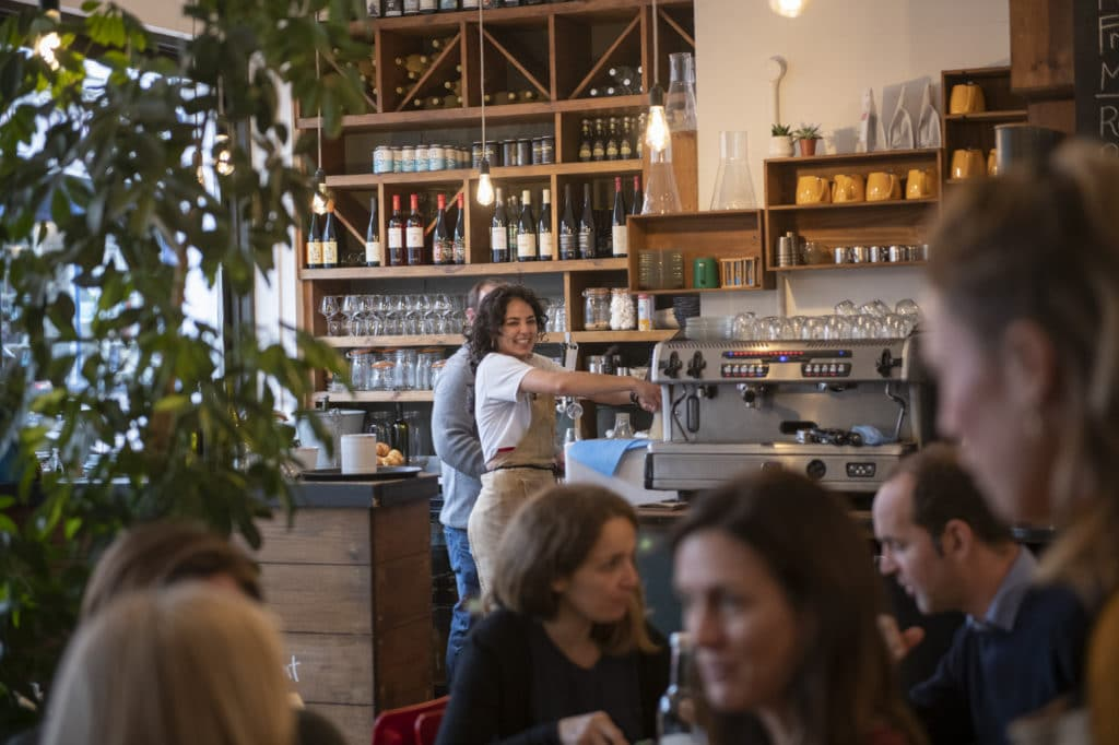Waitress at Mange Tout