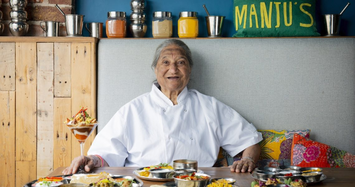 Chef Manju, 83 years old, Indian Restaurant Brighton