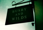 Busby and Wilds sign, food pubs Brighton