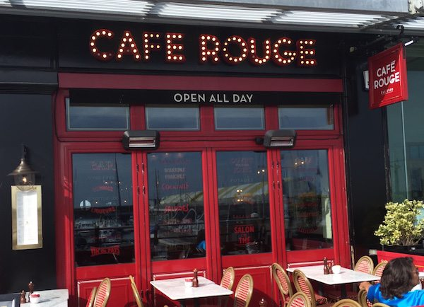 Cafe Rouge, Brighton Marina Restauarnt
