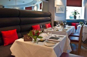 Banquette in restaurant - Drakes of Brighton, Fine Dining Restaurant