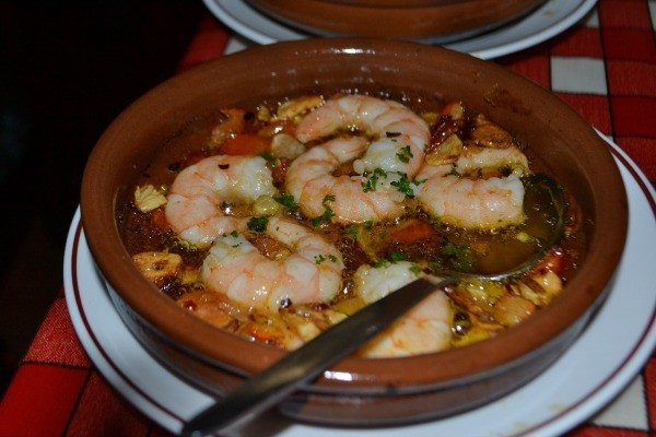 Garlic prawns at Casa Don Carlos, Brighton