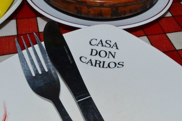 Plate at Casa Don Carlos Brighton