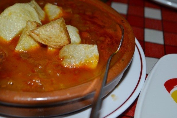 Lentil stew at Casa Don Carlos