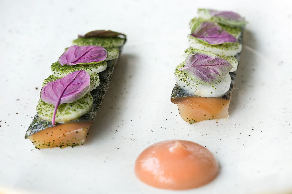Salmon at Plateau Restaurants Brighton