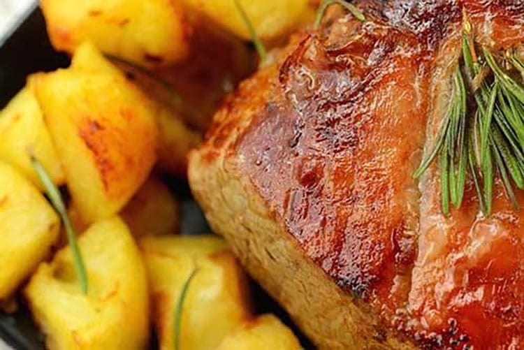 Sunday lunch and roasts in Brighton, pork and roast potatoes