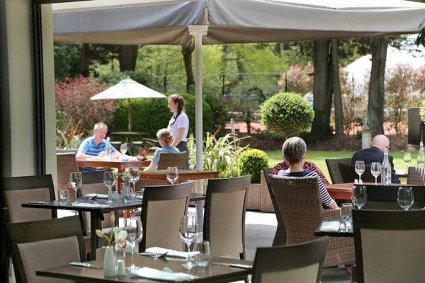 Alfresco dining at Wickwoods - The Glass House Restaurant