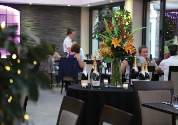 Waiting staff at The Glass House Restaurant