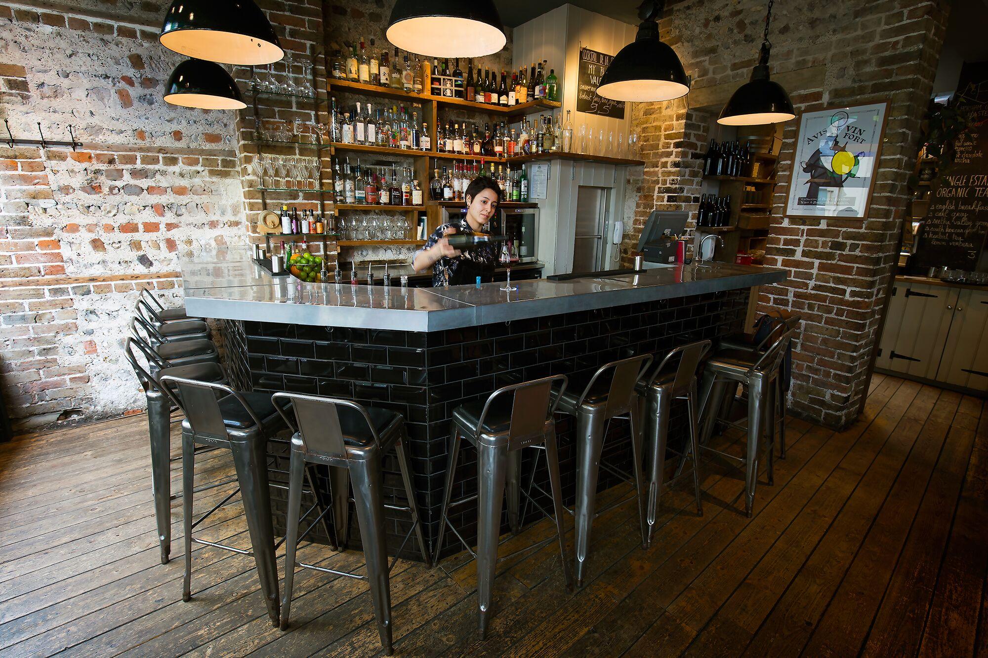 The bar at Plateau Restaurants Brighton