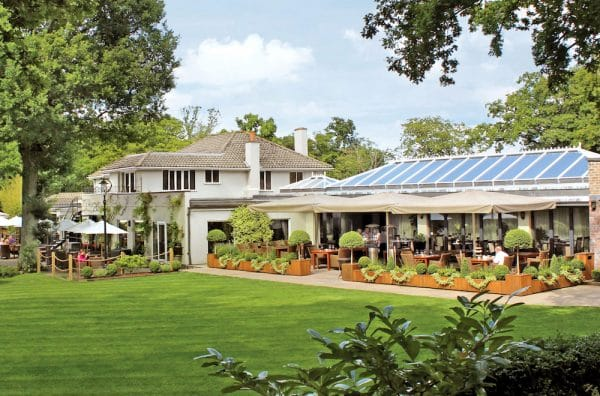 Outside garden - Glass House Restaurant, Wickwoods Country Club