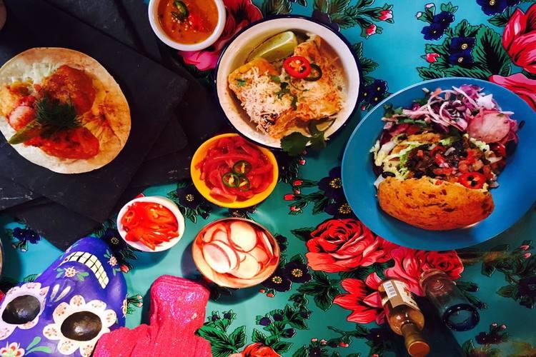 dishes at la choza