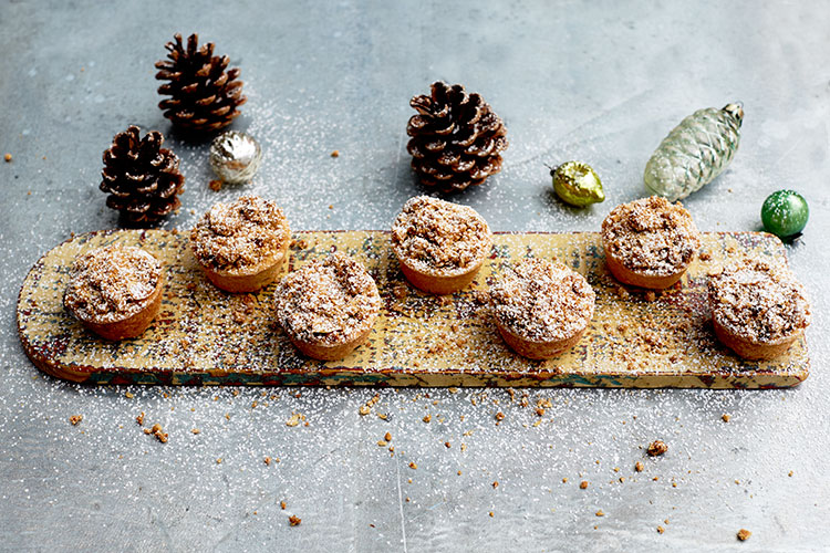 Christmas Parties Brighton, mince pies on a board