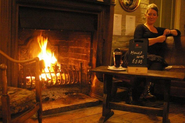 Roaring Fire at the Jolly Sportsman, Sussex Restaurant