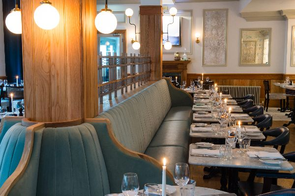 Bistro Du Vin banquette seating - Hotel du Vin Brighton