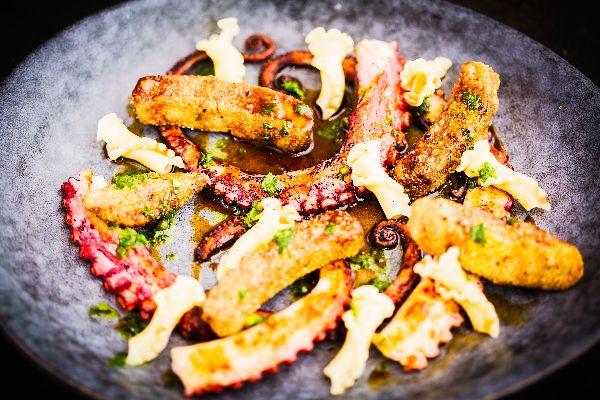 Squid starter at Bistro Du Vin - Hotel du Vin Brighton