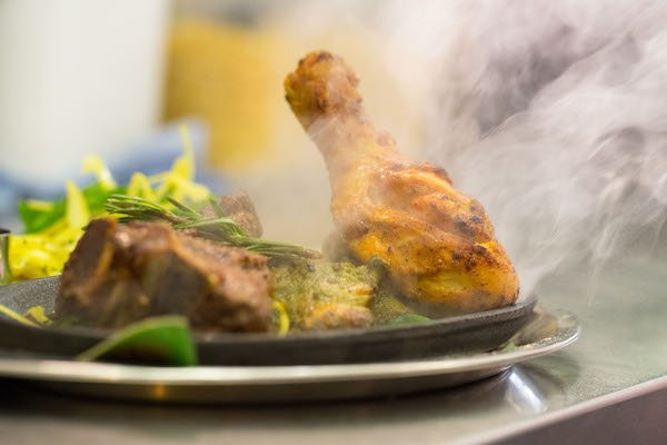 Sizzling Meat Platter - Indian restaurant or Curry Brighton