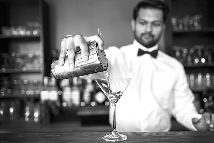 Pouring a cocktail, Chaula's Lewes