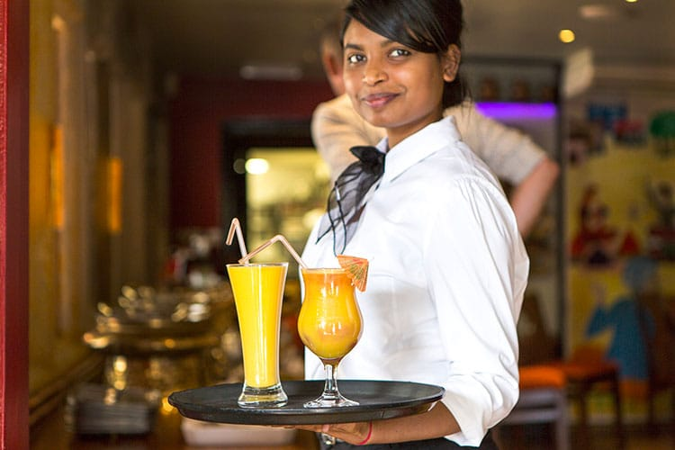 chaula's lewes - Colourful cocktails being served at Chaula's Indian restaurant