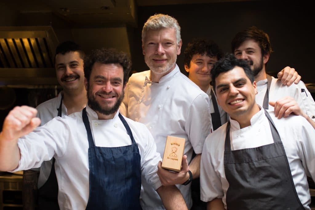 Team picture at 64 degrees - Best Restaurant in Brighton 2018 - Michael Bremner 64 Degrees - BRAVO awards