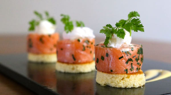 The house restaurant brighton family run popular bistro for Smoked salmon roulade canape