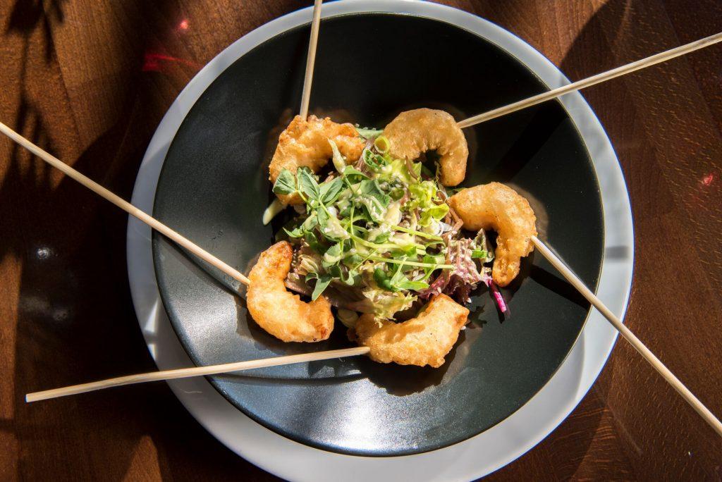 Tempura prawn lollipops at Chambers Bistro Restaurants Brighton