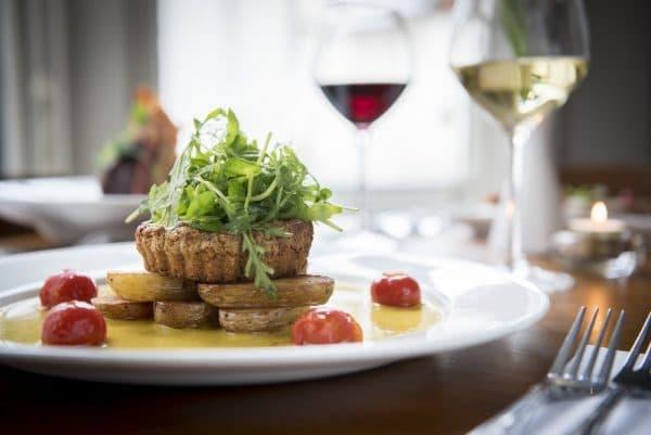 Tart dish at The House Restaurant in Brighton