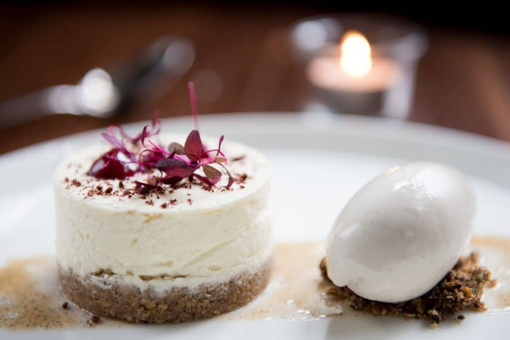 Cheesecake at Hove Place Restaurants Brighton