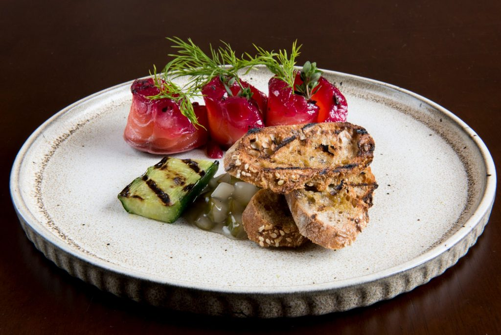 Fish starter at The Cricketers Restaurants Brighton