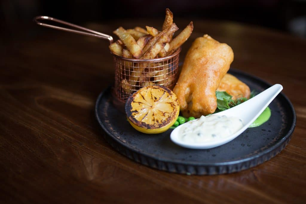 Fish and Chips - Hove Place Bistro and Gardens, food pubs Brighton