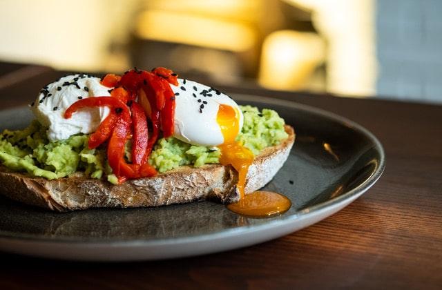 Poached egg on avocado on toast