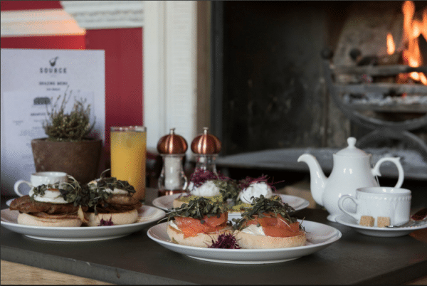 Breakfast trio at Proud Country House