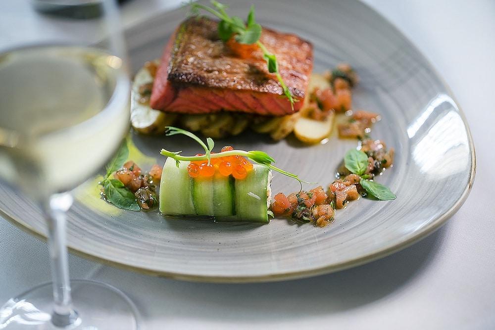 Salmon dish at Drakes in Brighton