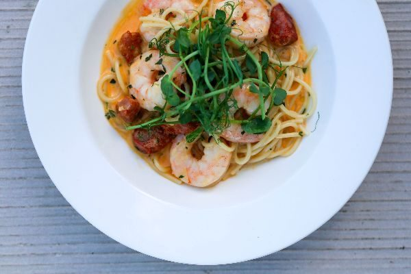 prawn linguine at Proud Country House, Brighton