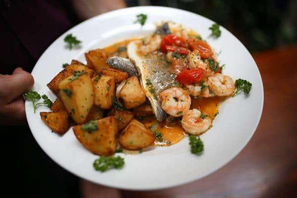 Sea bass, Sunday lunch