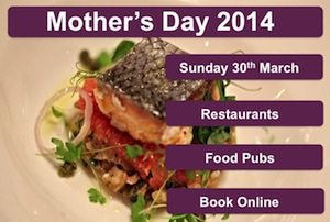 Mother's Day Brighton, Restaurant, Mothering Sunday. Hove