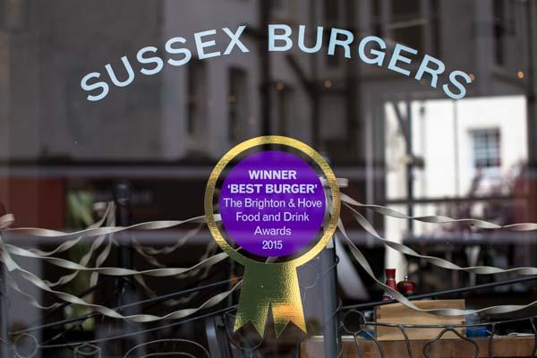 Sussex Burgers Sign - Coggings and Co, Brighton - Christmas Parties Brighton